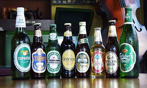 マラッカのディスカバリーカフェで売ってるビール各種