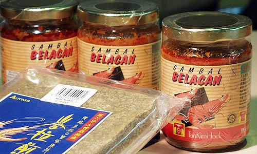 マラッカの土産店でも手に入るサンバルブラチャン(瓶入りタイプ)